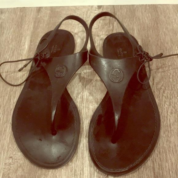 de4c155bf1b1 Gucci Shoes - Authentic Gucci rubber sandals
